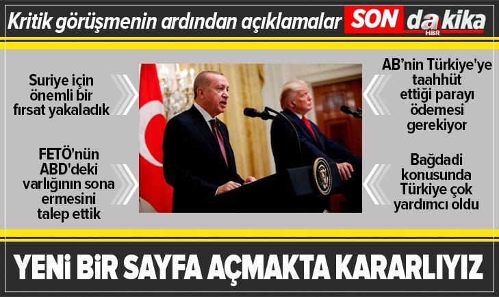 Başkan Erdoğan ve Trump'tan heyetler arası görüşmenin ardından açıklamalar