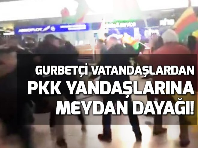 Almanya'da Türk vatandaşlarından PKK yandaşlarına dayak