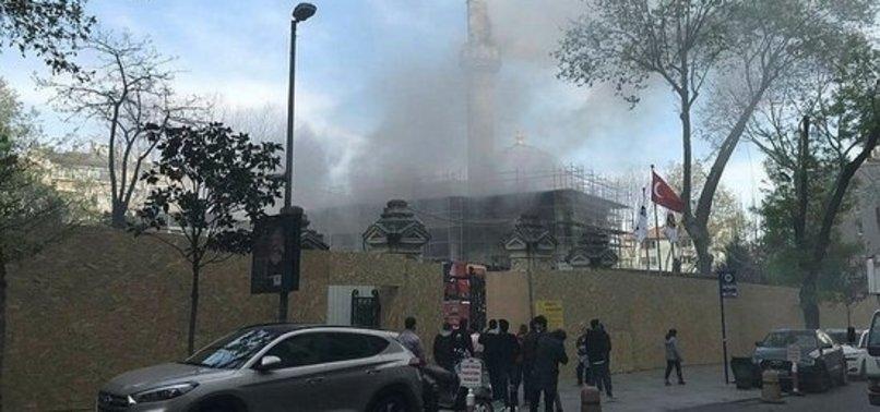 Şişli'de Teşvikiye Camii'nde yangın ile ilgili görsel sonucu