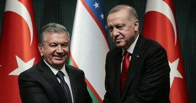 Son dakika: Başkan Erdoğan, Özbekistan Cumhurbaşkanı ile görüştü