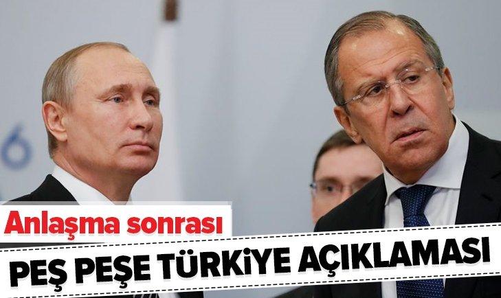 RUSYA'DAN PEŞ PEŞE TÜRKİYE AÇIKLAMASI