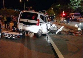 Giresun'da feci kaza! Otomobil LPG tankerine çarptı: 2 ölü