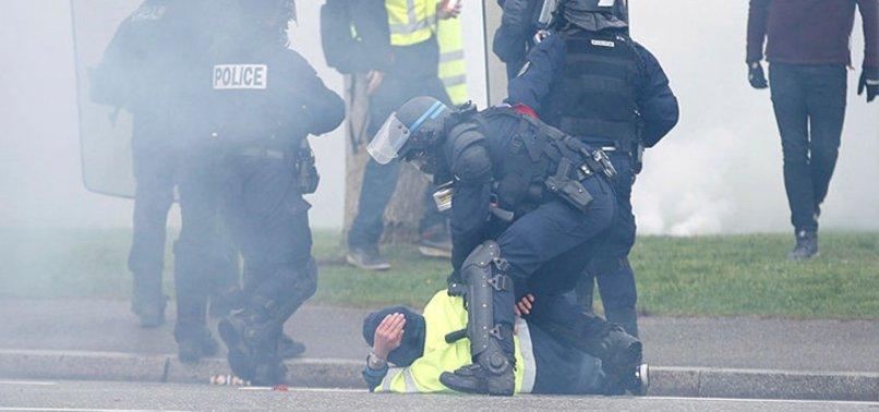 fransız polisi sarı yelekliler