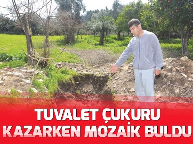 TUVALET ÇUKURU KAZARKEN BULDU