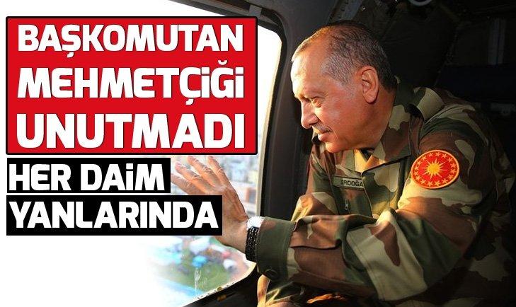 Başkan Erdoğan yeni yılda Mehmetçiği unutmadı