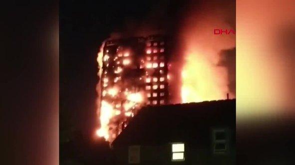 Londra'da korkutan yangın