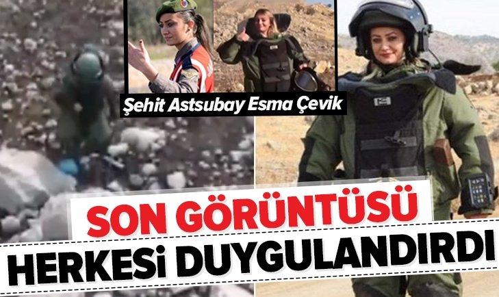 BOMBA İMHA UZMANI ŞEHİT ASTSUBAY ESMA ÇEVİK'İN SON GÖRÜNTÜSÜ