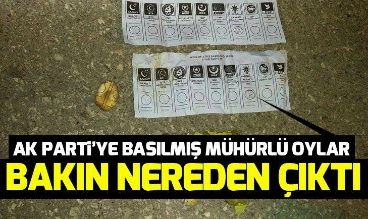 Çöpten AK Parti'ye basılmış mühürlü oy pusulası çıktı