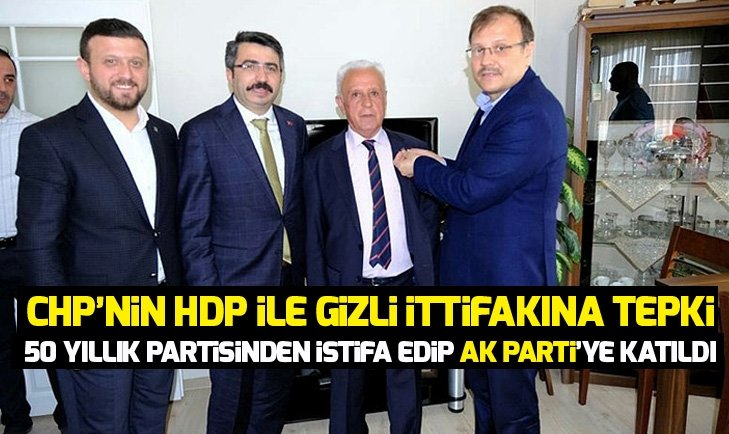 CHP'nin HDP ile gizli ittifakına tepki gösterdi! 50 yıllık partisinden istifa etti
