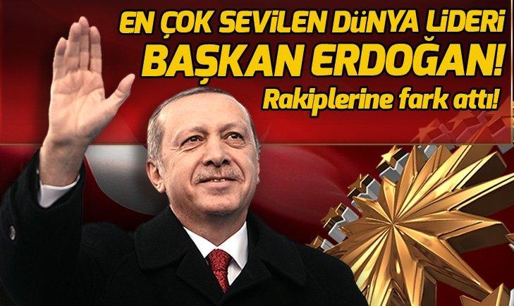 Başkan Erdoğan, en çok sevilen dünya lideri oldu