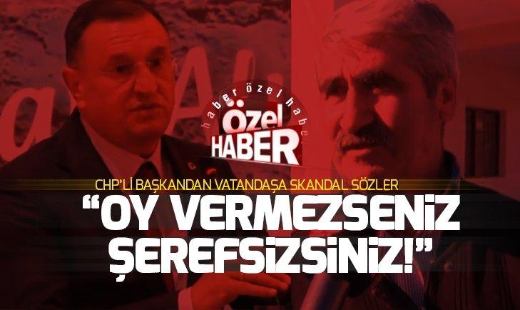 CHP'nin Hatay Büyükşehir adayı Lütfü Savaş: Bize oy vermezseniz şerefsizsiniz!