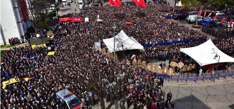 AFRİN ŞEHİDİ UZMAN ÇAVUŞ TANER KART'I 10 BİN KİŞİ UĞURLADI