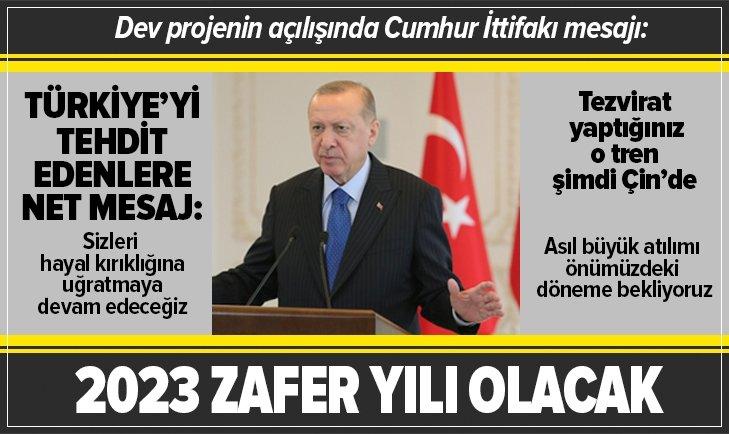 Başkan Erdoğan'dan Cumhur İttifakı mesajı!
