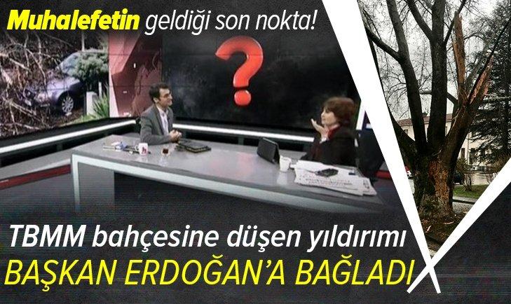 Yıldırım düşmesini Başkan Erdoğan'a bağladı