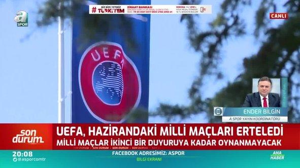 UEFA milli maçları erteledi