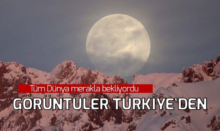 KANLI AY TUTULMASI GÖRENLERİ HAYRAN BIRAKTI! İŞTE TÜRKİYE'DEN ÇEKİLEN MANZARALAR...