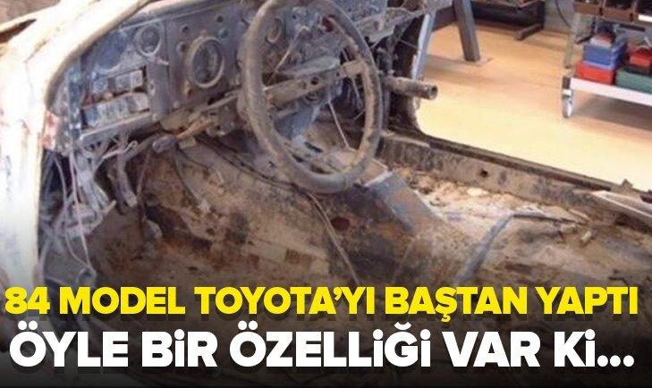 1984 MODEL TOYOTA'YI BAŞTAN YAPTI!