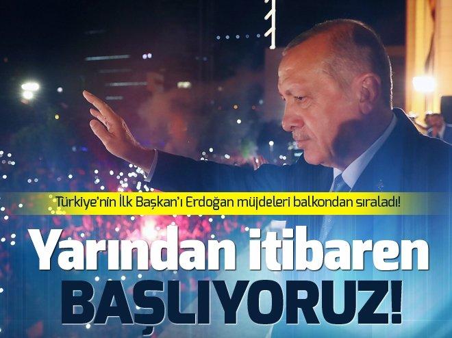 Cumhurbaşkanı Erdoğan'ın balkon konuşması - İşte  24 Haziran balkon konuşması