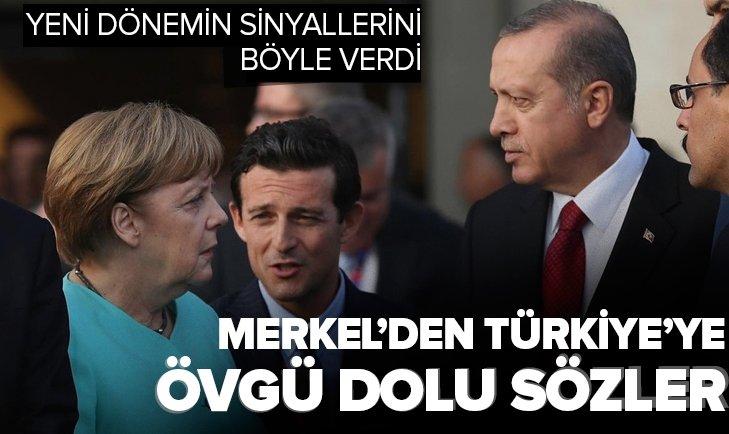 Almanya Başbakanı Merkel'den Türkiye'ye övgü dolu sözler! Yeni bir dönemin sinyallerini bu sözlerle verdi