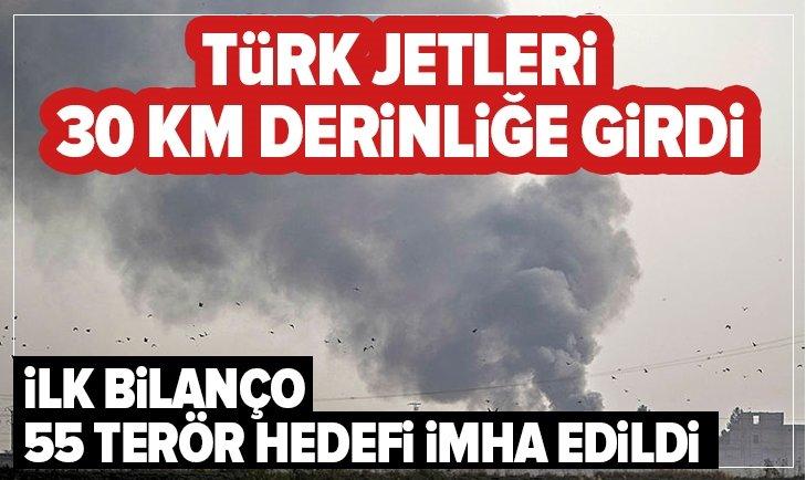 Türk jetleri 30 km derinliğe girdi