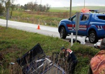 Balıkesir'de otomobil su kanalına düştü; 2 ölü
