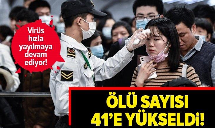 ÇİN'DE HIZLA YAYINLAN KORONAVİRÜS SALGININDA ÖLÜ SAYISI 41'E ULAŞTI