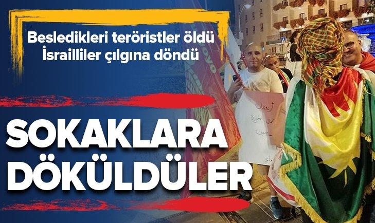 İSRAİLLİLER PKK'YA DESTEK GÖSTERİSİ DÜZENLEDİ
