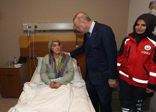 Başkan Erdoğan Elazığ'daki depremde yaralanan vatandaşları ziyaret etti