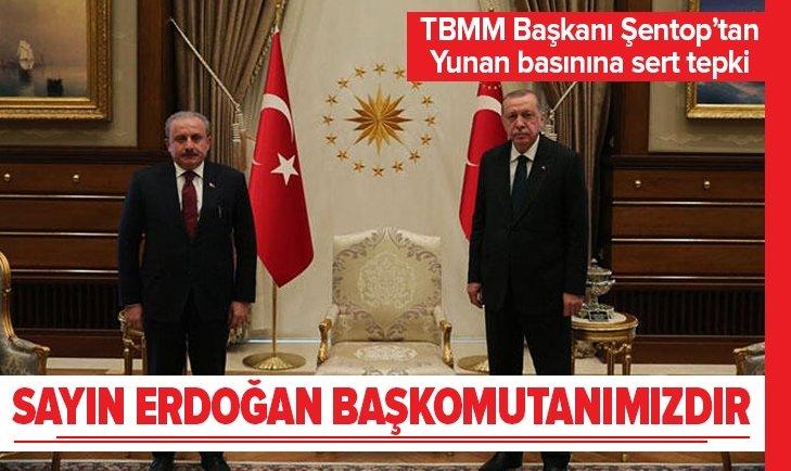 TBMM Başkanı Şentop'tan Başkan Erdoğan'a destek