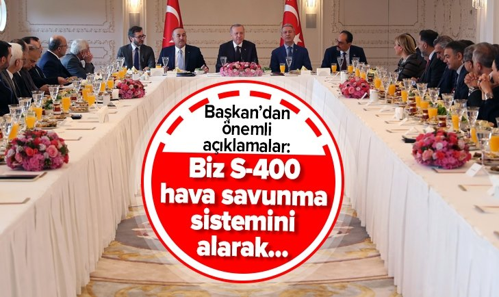 Başkan Erdoğan'dan S-400 mesajı