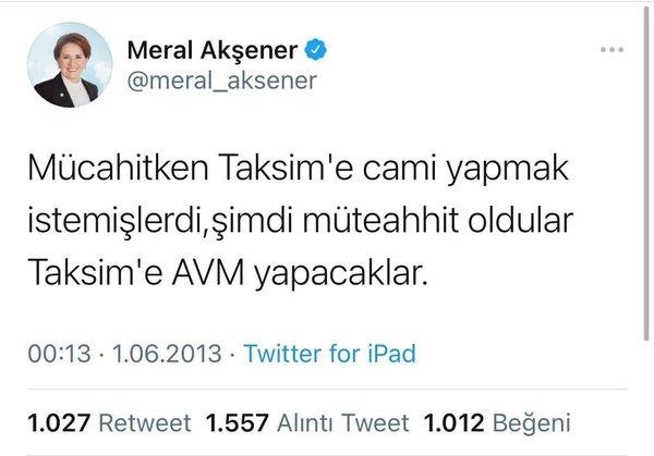 Siyasiler ve gazetecilerden Meral Akşener'e Taksim Camii göndermesi! Gördün mü teyze? Erdoğan dediyse yapar…