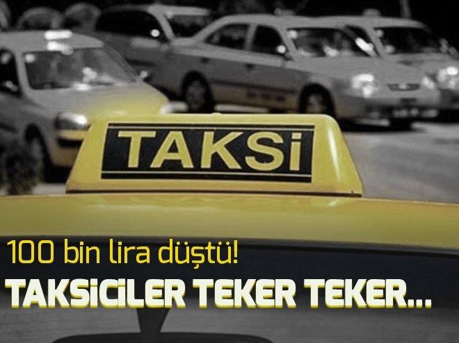 Taksi plakaları 100 bin lira düştü