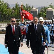 Cumhurbaşkanı Erdoğan, Aliyev'i resmi törenle karşıladı