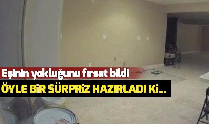 EŞİNE ÖYLE BİR SÜRPRİZ HAZIRLADI Kİ...