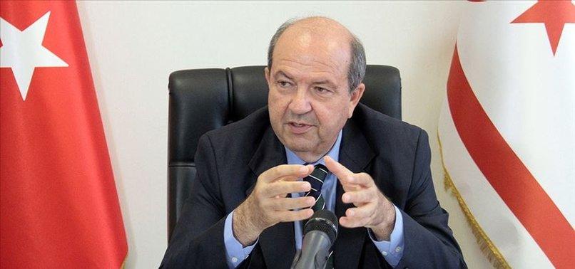 KKTC'de ulusa seslenen Ersin Tatar Türkiye'nin fiili garantisinin kalkmasına izin vermeyeceğini söyledi