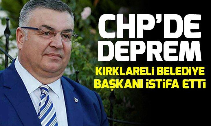 CHP'li Kırklareli Belediye Başkanı Kesimoğlu, partisinden istifa etti