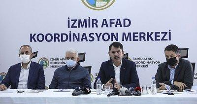 Son dakika: İzmir'deki deprem! Bakanlar AFAD İzmir Koordinasyon Merkezinde açıklamalarda bulundu