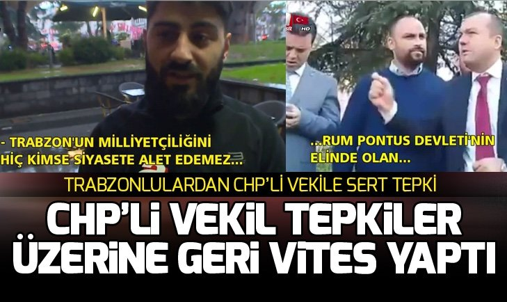 Trabzonlulardan CHP'li vekile tepki