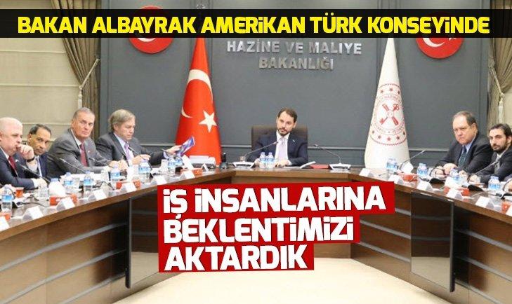 BAKAN ALBAYRAK'TAN AMERİKAN TÜRK KONSEYİ AÇIKLAMASI