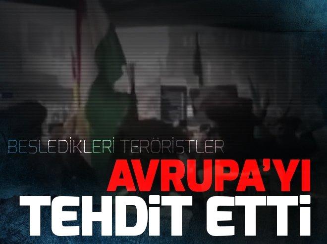 TERÖR ÖRGÜTÜ PKK/YPG'DEN AVRUPA'YA TEHDİT!