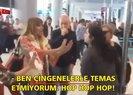 Funda Esenç isimli yolcu uçağı rötar yapınca kadın personele hakaretler savurdu | Video