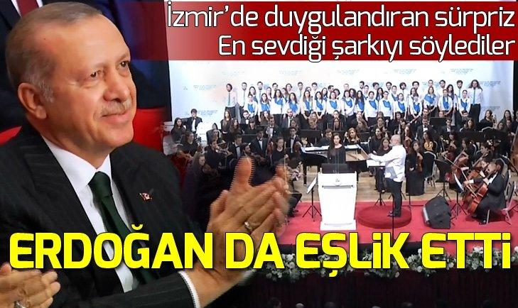İzmir'de Başkan Erdoğan'a sürpriz