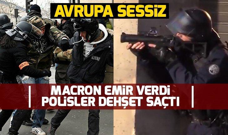FRANSIZ POLİSİ YİNE GÖSTERİCİLERİ DARP ETTİ