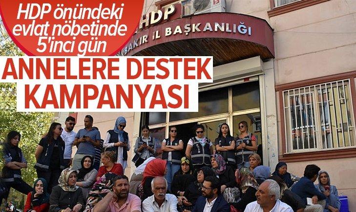 HDP önündeki 'evlat' nöbetine destek...