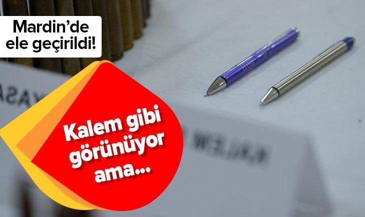 MARDİN'DE PKK'LI TERÖRİSTLERE AİT KALEM ŞEKLİNDE KİMYASAL 8 FÜNYE ELE GEÇİRİLDİ
