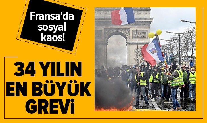 FRANSA'DA SOSYAL KAOS! 34 YILIN EN BÜYÜK GREVİ
