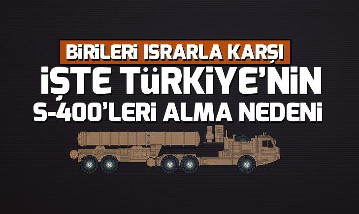 Türkiye neden S-400 alıyor? İşte nedeni...