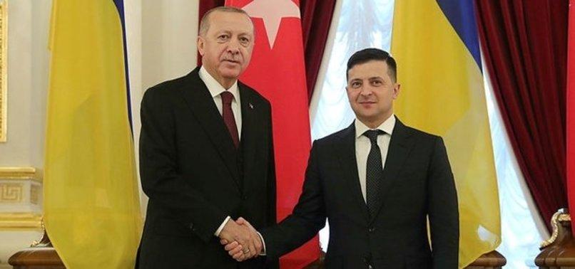Başkan Erdoğan, Ukrayna Devlet Başkanı Zelenskiy ile görüştü