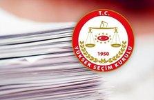 Geçici milletvekili aday listesi açıklandı
