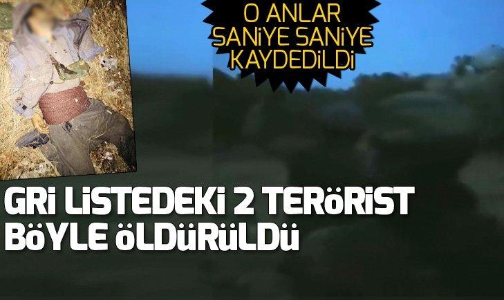 Gri listedeki iki teröristin öldürülme görüntüleri